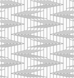 Gray corners on continues lines vector