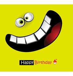 Happy Birthday big smile vector image vector image