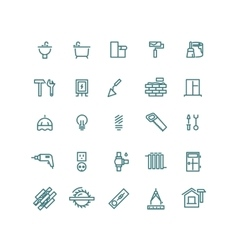 Home repair outline icons vector