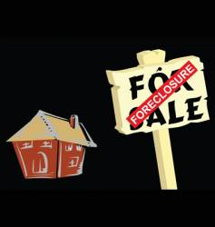House foreclosure vector