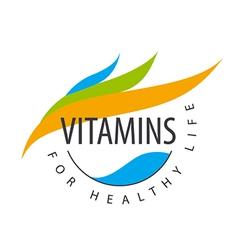Logo vitamins colored petals vector