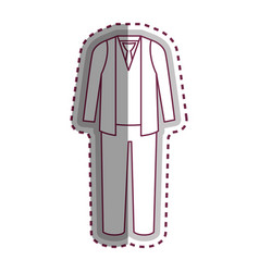 man dress casual icon vector image