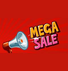 mega sale closeout promo discounts banner vector image vector image