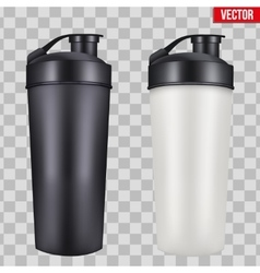 Mock-up plastic sport nutrition drink bottle vector