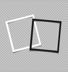 paper and wooden square frame vector image