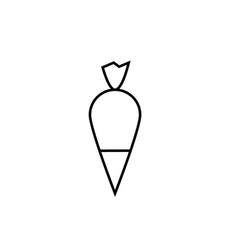pastry bag icon vector image