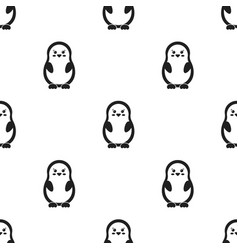 Penguin black icon for web and vector
