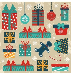 Retro Christmas background vector image vector image