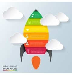 Rocket element for infographic vector