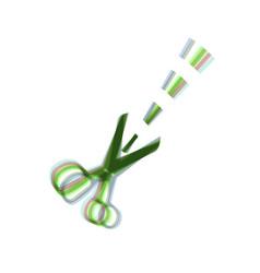 scissors sign colorful icon vector image