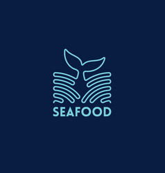 seafood outline logo vector image vector image