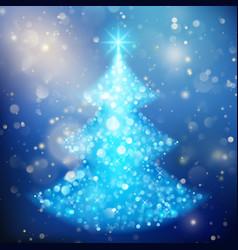 Shiny christmas tree holiday template eps 10 vector