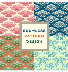 Stylized oriental ornament seamless pattern vector