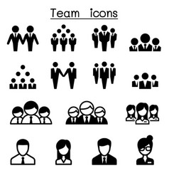 team icons vector image