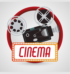 Vintage camera fim cinema poster vector