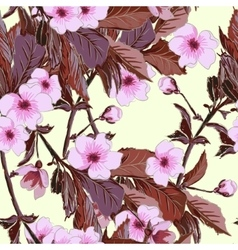 Vintage wallpaper seamless pattern with pink vector image