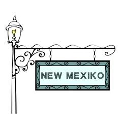 New Mexico retro pointer lamppost vector image
