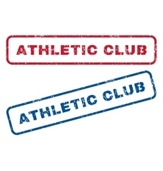 Athletic club rubber stamps vector