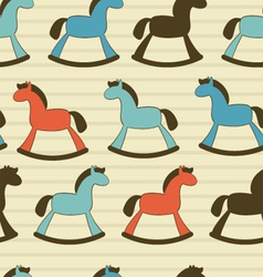Rocking horses pattern vector