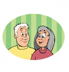 grandparents vector image