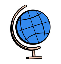 School geographical globe icon cartoon vector