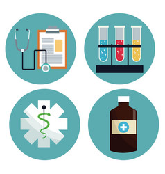 Healthcare medical equipment icons vector