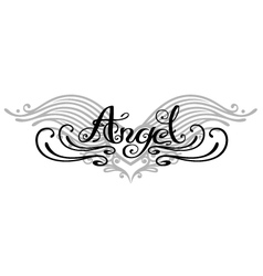 Angel wings tattoo vector