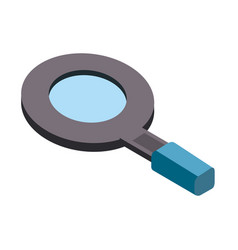 Magnifying glass tool to search and explore vector