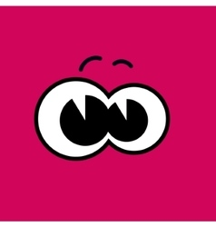 Cartoon eyes pink eps10 vector