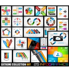 Extreme collection of 25 quality infographics vector