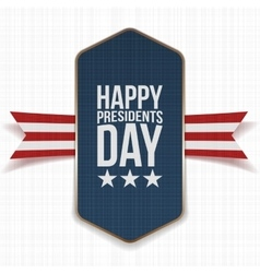 Happy presidents day big poster with ribbon vector