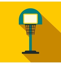 Basketball goal on a playground flat icon vector
