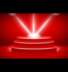Theatrical backgroundscene and red curtainsred vector