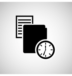time concept design vector image