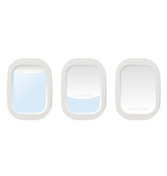 Set Airplane illuminators vector image