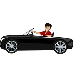 A man in a car vector