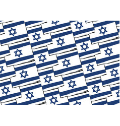 Abstract israel flag or banner vector