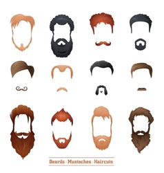Beards and Mustaches Hairstyles vector image vector image