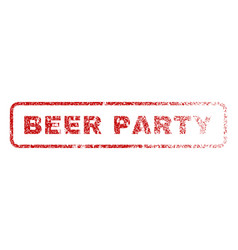 beer party rubber stamp vector image vector image