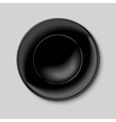Black round plate vector
