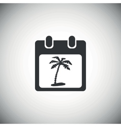 Black vacation calendar icon vector