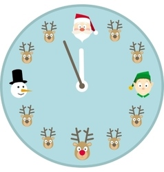 Christmas Clock Face vector image vector image
