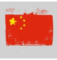 Flag of china on a gray background vector