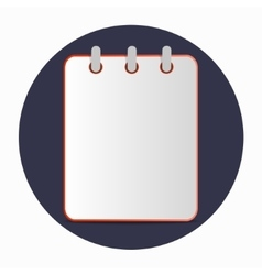 Flat template red notebook vector