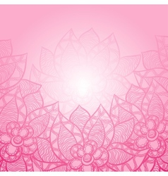Floral background with abstract hand drawn flowers vector image vector image