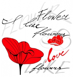 flower with inscription vector image vector image