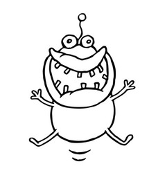funny cheerful monster is lucky vector image vector image