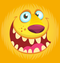 furry monster face avatar vector image vector image