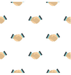 Handshake pattern flat vector
