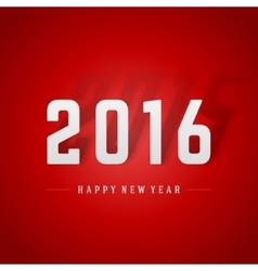 Happy New Year 2016 and 2015 shadow 3d message vector image vector image